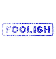 Foolish rubber stamp vector