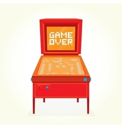 Game over retro pinball machine vector image vector image