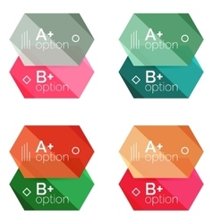 Geometric option infographic templates vector