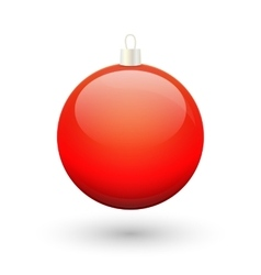 Gradient christmas red ball vector image vector image