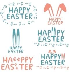 Happy easter design elements vector image