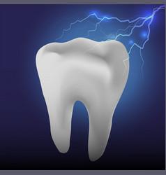 Have a hypersensitive teeth toothache vector
