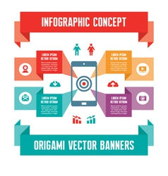 Infographic Business Concept for Presentation vector image vector image
