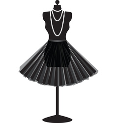 mannequin with skirt vector image