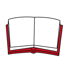 opened book design vector image vector image