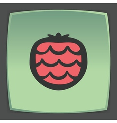 Outline strawberry fruit icon modern infographic vector