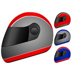 race helmet vector image vector image
