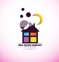 Real estate house logo vector