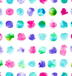 Seamless pattern of watercolor circles vector image vector image