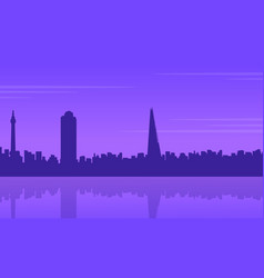 silhouette of london building beauty landscape vector image