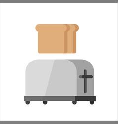steel toaster vector image vector image