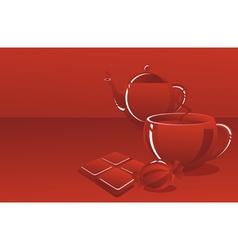 sweet tea-drinking vector image