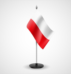 Table flag of poland vector