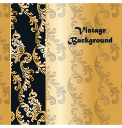 Vintage background with classic floral ornaments vector image vector image