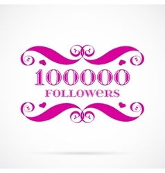 10000 followers badge over white vector image