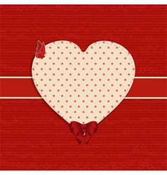 valentine heart label background vector image