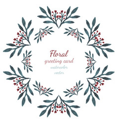 Floral collection with leaves and flowers hearts vector