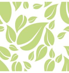 Mint leaf seamless pattern vector
