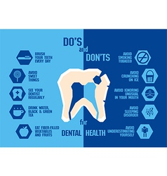 Info graphic for dental health  blue tone vector