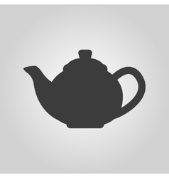 The teapot icon tea symbol flat vector