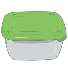 Plastic box for storage of products isolated vector