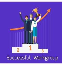 Successful workgroup people design vector
