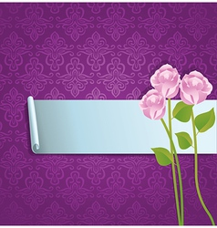 Abstract banner with roses vector