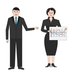 Businessman and business women vector image