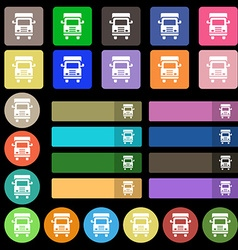 Transport truck icon sign set from twenty seven vector