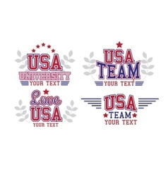 Usa badges set vector
