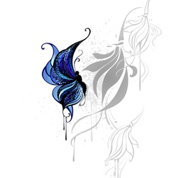 Dark blue butterfly vector