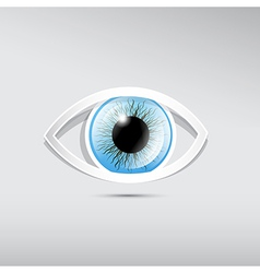 Abstract paper blue eye on grey background vector image vector image