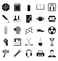 Academy icons set simple style vector