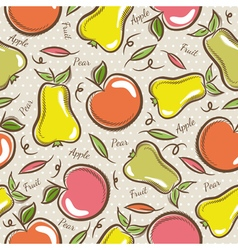 Background with apples and pears vector image