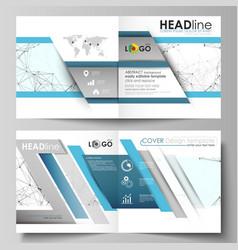 business templates for square design bi fold vector image