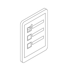 Check list icon isometric 3d style vector image