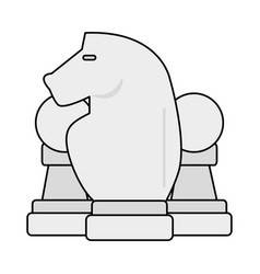 chess piece icon image vector image vector image