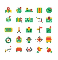 Color Navigation Icons Set vector image