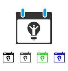 Electrician calendar day flat icon vector