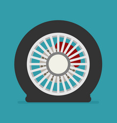flat tire icon vector image