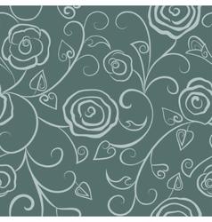 Floral seamless gray vector