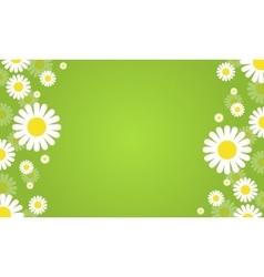 Flower spring green background vector
