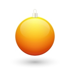 Gradient christmas yellow ball vector image vector image