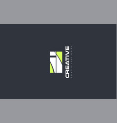 Green letter il i l combination logo icon company vector