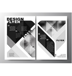 Minimal modern poster brochure flyer design layout vector