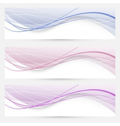 Modern abstract banners or web headers vector image vector image