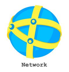 network icon isometric style vector image