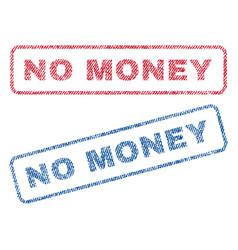 no money textile stamps vector image