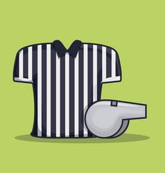 referee shirt uniform american football vector image
