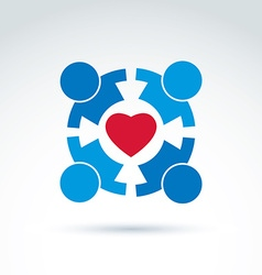 Round family consultation symbol compassion and vector
